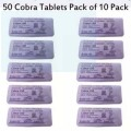 Pack of 10 Black Cobra Tablets Pack - 50 Tablets