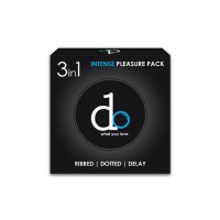 DO INTENSE PLEASURE PACK RIBBED DOTTED DELAY CONDOM ( 3 IN 1 )