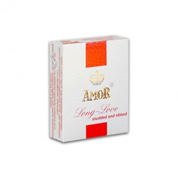 Amor Long Love Condom Studded And Ribbed
