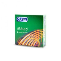 Pack of 9 Durex Ribbed Condoms - By Herbal Medicos