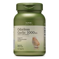 GNC Herbal Plus Odorless Super Garlic 1000 mg 100 Tablets
