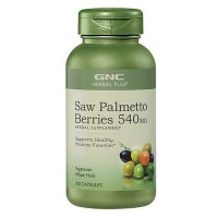 GNC Herbal Plus Saw Palmetto Berries 540MG 100 Capsules