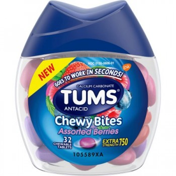 Tums Antacid Chewy Bites Assorted Berries Chewable Tablets