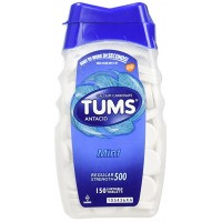 TUMS Antacid, Regular Strength Chewable Tablets, Mint 150