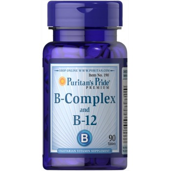 Vitamin B-Complex and Vitamin B-12 90 Tablets