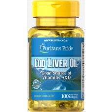 Cod Liver Oil 415 mg 100 Softgels