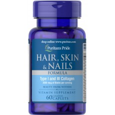 Hair Skin Nails Vitamins Formula 60 Caplets