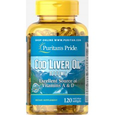Cod Liver Oil 1000 mg 120 Softgels