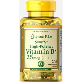 Vitamin D3 1000 IU 1000 IU / 200 Softgels