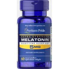 Extra Strength Melatonin 5 mg 60 Softgels