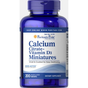 Calcium Citrate + Vitamin D3 Miniatures 200 mini Coated Tablets