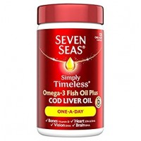 Seven Seas Simply Timeless Cod Liver Oil One-A-Day - 120 Capsules