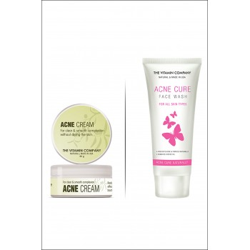 Acne Cream + Acne Cure Facewash By Herbal Medicos