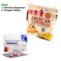 American Superman Tablet with Penegra Tablet