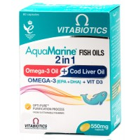 AquaMarine Fish Oil 2 in 1 (Omega-03+Cod Liver Oil)