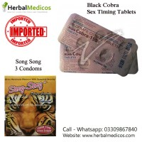 Pack of 2 Black Cobra Tablets and Song Song Condoms