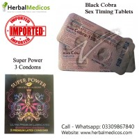 Pack of 2 Black Cobra Tablets and Super Power Condoms