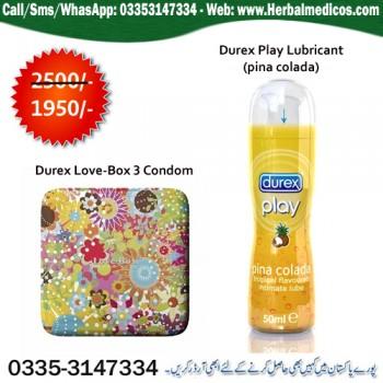 Durex Love Multiflower (3 condoms) with Durex Play Lubricant
