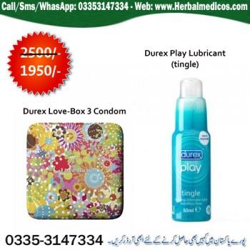 Durex Love Multicolour (3 condoms) with Durex Play Lubricant