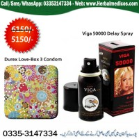 Durex Love Multiflower (3 condoms) with Viga 50000 Delay Spray