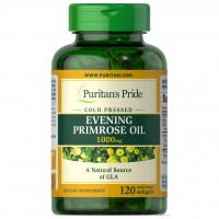 Puritans Pride Evening Primrose Oil 1000 mg with GLA 120 Softgels - Original USA