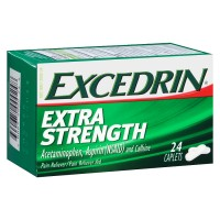 Excedrin Extra Strength Pain Reliever 24 Caplets (USA Imported)