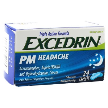 Excedrin PM Caffeine-Free Caplets 24 Tabs (USA Imported)