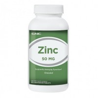 GNC ZINC 50 mg 250 Vegetarian Tablets - Made in USA