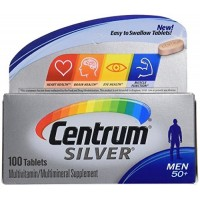 Centrum Silver Men 50 + Multivitamin/Multimineral 100 Tablets (2 Pack) By Herbal Medicos