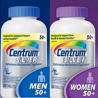 Centrum Silver Women 50+, 250 Tablets And Centrum Silver Men 50+, 250 Tablets By Herbal Medicos