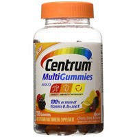 Centrum Adults MultiGummies Multivitamin/Multimineral Supplement (Natural Berry, Cherry, & Orange Flavor, 150-Count Gummies) By Herbal Medicos