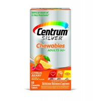 Centrum Silver Adult Multivitamin/Multimineral Supplement (Citrus Berry Flavor, 60-Count Chewables, Pack Of 3) By Herbal Medicos