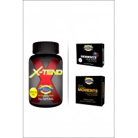 XTEND With Delay Wipes And Delay Condoms By Herbal Medicos