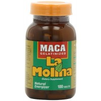 La Molina Gelatinized Maca, 500 Milligrams of Gelatinized Maca Pure per Tablet, 100 Tablets
