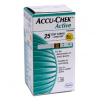 Accu-Chek Active 25 Test Strips By Herbal Medicos