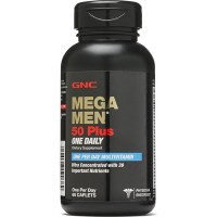 GNC Mega Men 50 Plus One Daily Multivitamin 60 Caplets