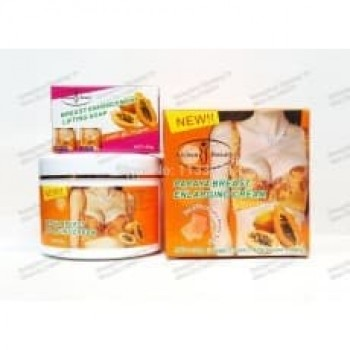 PAPAYA BREAST ENLARGING CREAM(300g) WITH (BREAST SOAP 40g)