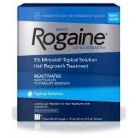 Rogaine Men's 5% Minoxidil Foam For Unscented Regrowth Hair