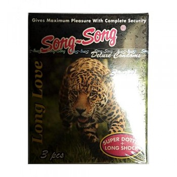 Song~Song Deluxe Condoms Dotted 3 Pcs