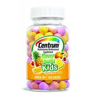 Centrum Kids Flavor Burst Multivitamin/Multimineral Supplement (Tropical Burst Flavor, 120-Count Chews) By Herbal Medicos