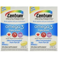 Centrum Pronutrients Omega3, 50 Minigels (Pack Of 2) By Herbal Medicos