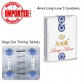 Pack of 2 Vega Tablets and Amor Long Love Condoms