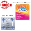 Pack of 2 Vega Tablets and Durex Pleasure Max Condoms
