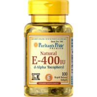 Puritan's Pride Vitamin E-400 iu D-Alpha Tocophery 100% Natural-100 Softgels