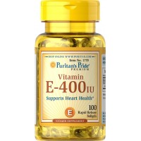 Puritan's Pride Vitamin E-400 iu Supports Heart Health 100% Natural-100 Softgels