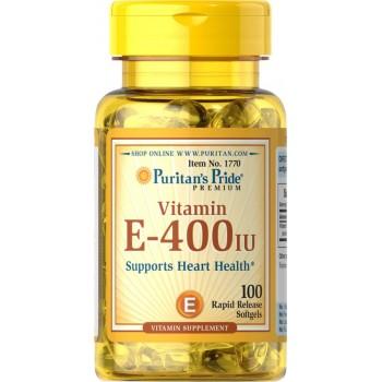 Puritan's Pride Vitamin E-400 iu Supports Heart Health 100% Natural-100 Softgels