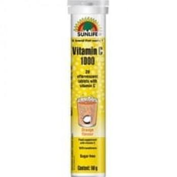 Sunlife Vitamin C 1000 - Orange Flavor