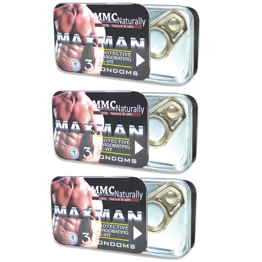Pack of 3 Box Maxman Condom By Herbal Medicos